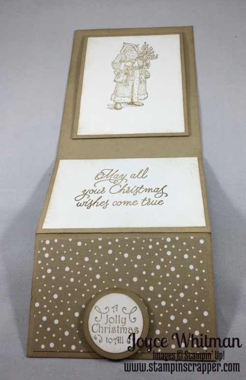 """stampin up, Stampin"""" Up! Father Christmas #132122, Peace This Christmas #141570, Candy Cane Lane Designer Series Paper #141981, 1/2"""" circle punch #119869, 1 1/4 circle Punch #138299, 2"""" circle Punch #133782, created by Stampin Scrapper, for more ideas for gifts, cards, scrapbooking and 3 D projects go to stampinscrapper.com"""