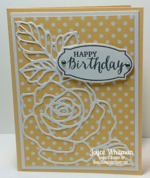 stampin up, Stampin' Up! Rose Wonder stamp set #140697, Rose Garden Thinlits #140619,  created by Stampin Scrapper, for more ideas, cards, gifts, 3 D projects and scrapbooking go to stampinscrapper.com