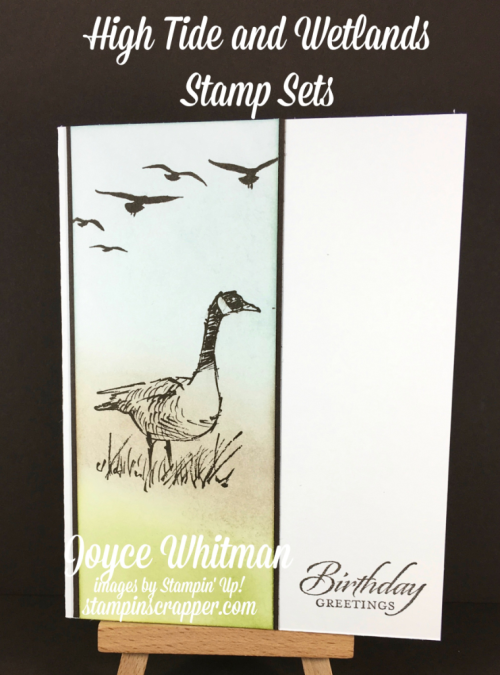 stampin up, Stampin' Up! Wetlands #126697, High Tide #143006, created by Stampin Scrapper, for more cards, gifts, ideas, scrapbooking and 3D projects go to stampinscrapper.com