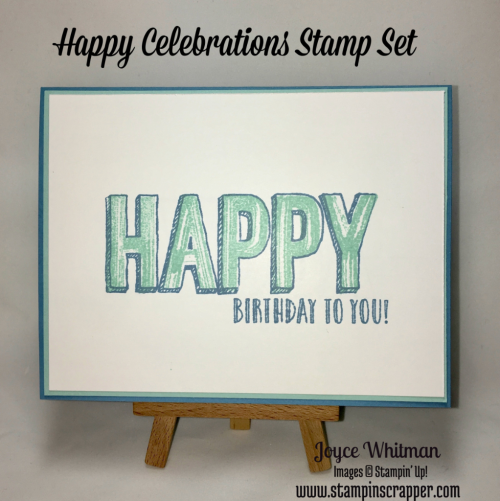 stampin up, Stampin' Up! Happy Celebrations #143012, 2017 Occasions catalog, created by Stampin Scrapper, for more cards, gifts, ideas, scrapbooking, 3D projects and more go to stampinscrapper.com