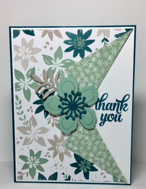stampin up, Stampin' Up Tin of Cards stamp set #138946, Blooms and Bliss Designer Series Paper #141654, Botanical Builder Framelits #140625, designed by Stampin Scrapper, for more cards, gifts, ideas, scrapbooking and 3D projects go to stampinscrapper.com, Joyce Whitman