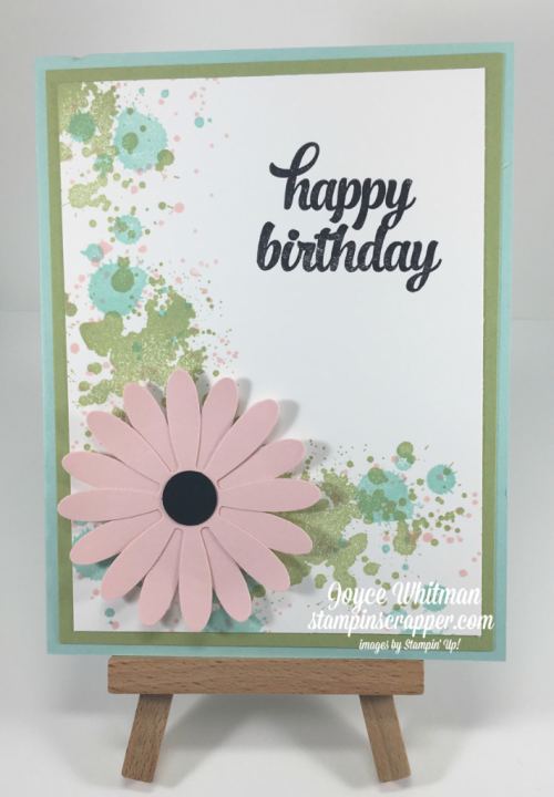 "Stampin Up Stampin' Up! Tin of Cards #138946, Gorgeous Grunge #130517,  Daisy Delight #143669, Daisy Punch #143713, 1/2"" Circle Punch #119869, created by Stampin Scrapper, for more cards, gifts, ideas, scrapbooking and 3 D projects go to stampinscrapper.com, Joyce Whitman"