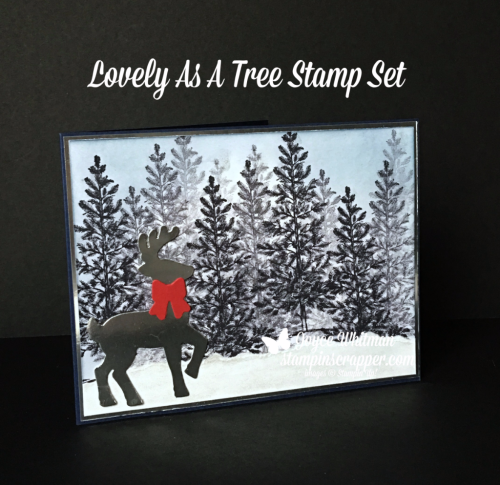 Stampin Up, Stampin' Up! Lovely As A Tree stamp set #127793, Santa's Sleigh Thinlits #140278, Embossing Paste 141979, created by Stampin Scrapper, for more cards, gifts, ideas, scrapbooking and 3D projects go to stampinscrapper.com, Joyce Whitman