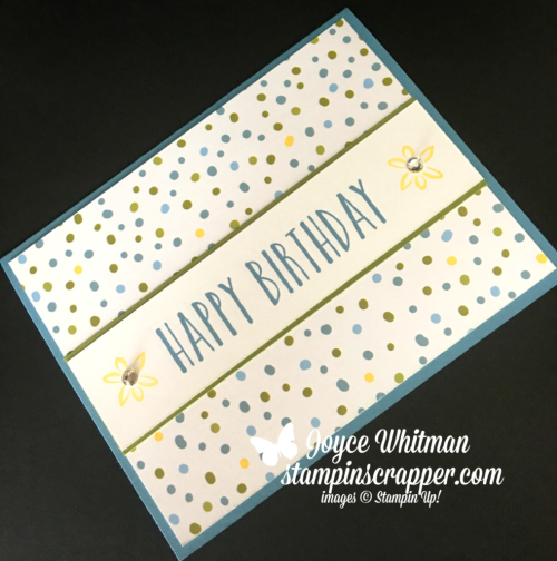Stampin Up, Stampin' Up! Perennial Birthday stamp set #145760, Sweet Soiree Specialty Designer Series Paper #145564, created by Stampin Scrapper, for more cards, gifts, ideas, scrapbooking and 3D projects go to stampinscrapper.com, Joyce Whitman
