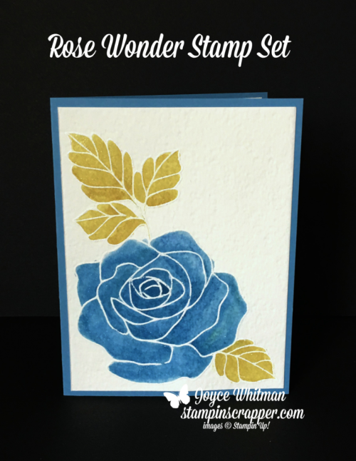 Stampin Up, Stampin' Up! Rose Wonder stamp set #140697, Brusho Crystal Colour #144101, created by Stampin Scrapper, for more cards, gifts, ideas, scrapbooking and 3D projects go to stampinscrapper.com, Joyce Whitman