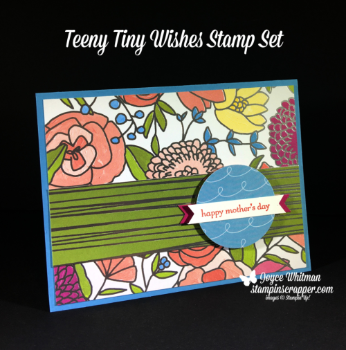 Stampin Up, Stampin' Up! Teeny Tiny Wishes stamp set #127802, sweet Soiree Specialty Designer Series Paper #145564, Classic Label Punch #141491, CASEing Tuesday, created by Stampin Scrapper, for more cards, gifts, ideas, scrapbooking or 3D projects go to stampinscrapper.com, Joyce Whitman