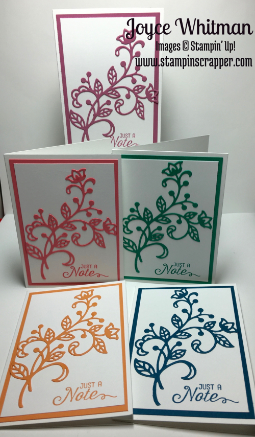 stampin up, Stampin' Up Flourishing Phrases, Stampin' Up! Flourish Thinlits, Note Card, created by Stampin Scrapper, for more cards and projects check out Stampin Scrapper at stampinscrapper.com
