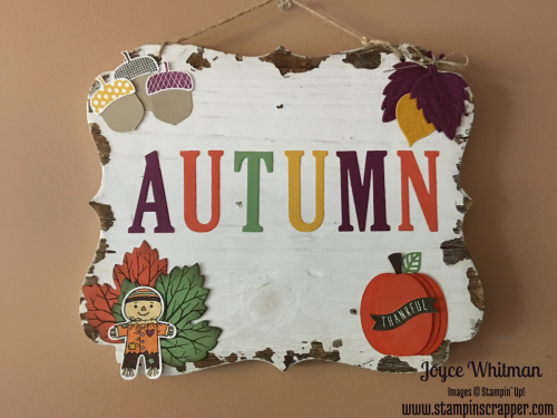 stampin up Stampin' Up! Acorny Thank You #139718, Vintage Leaves #138802, Sheltering Tree #137163, Cookie Cutter Halloween #142255, Cookie Cutter Builder Punch #140396, Layering Oval Framelits #141705, Leaflets Framelits #3138283, Flourish Thinlits #141478, Large Letters Framelits #141712, designed by Stampin' Scrapper, for more cards and gift ideas go to stampinscrapper.com