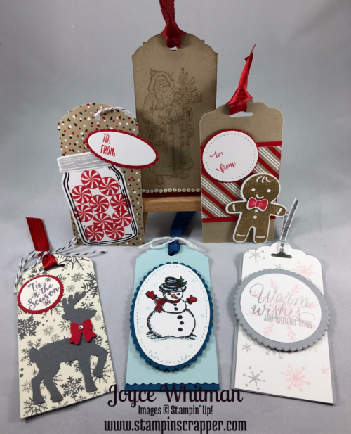 Stampin Up, Stampin' Up! Candy Cane Christmas #142037, Cookie Cutter Christmas #142043, Cookie Cutter Builder Punch #140396, Hang Your Stocking #142114, Father Christmas #142125, Christmas Magic #142119, Santa's Sleigh Thinlits Dies #140278, Tin of Tags #142180, Jar of Love #141587, Perpetual Birthday Calendar #137167, Peaceful Pines #139728, Snow Place #139738, This Christmas DSP #141628,Cookie Cutter Builder Punch #140396, Stiched Shapes Framelits Dies #145372, 1' circle punch #119861, Layering Circle Framelits #141705, Layering Oval Framelits #141706, Layering Squares Framelits #141708, Scalloped Tag Topper #133324, Pearl Basic Jewels #119247, Everyday Jars Framelits #141490, Created by Stampin Scrapper, for more tags, cards, scrapbooking and gifts go to stampinscrapper.com