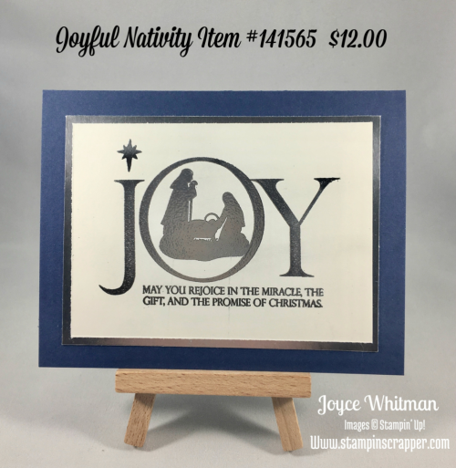 stampin up, Stampin' Up! Joyful Nativity stamp set #141565, Silver Foil Sheets #132178, Silver Embossing Powder #109131, created by Stampin Scrapper, for more cards, gifts, 3 D projects and scrapbooking ideas go to stampinscrapper.com