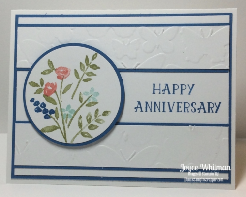 Stampin up, Stampin' Up!, Number of years, Fluttery Embossing Folder, Anniversary Card, Butterfly, created by Stampin Scrapper, for more ideas, gifts, cards, 3D projects and scrapbooking go to stampinscrapper.com