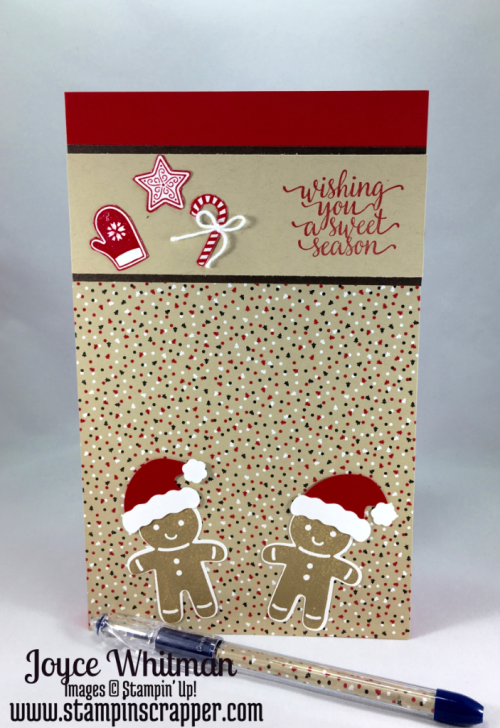 stampin up, Stampin' Up! Candy Cane Christmas, Stampin' Up! Cookie Cutter Christmas, Candy Cane Lane Designer Series Paper, Candy Cane Lane Washi Tape, created by Stampin Scrapper, for more project and card ideas go to stampinscrapper.com