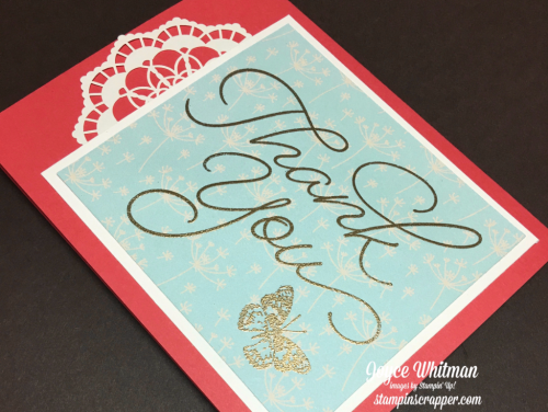 stampin up, Stampin' Up! So Very Much, 2017 Sale-A-Bration, Gold embossing powder #109129, designed by Stampin Scrapper, for more cards, gifts, ideas, scrapbooking and 3D projects go to stampinscrapper.com, Joyce Whitman