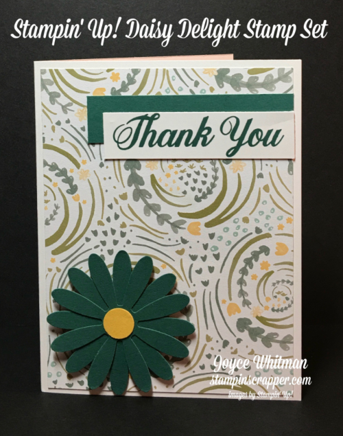 Stampin up, Stampin' Up Daisy Delight #143669, Daisy Punch #143713, Delightful Daisy DSP #144137, created by Stampin Scrapper, for more cards, gifts, ideas, scrapbooking and 3D projects go to Stampinscrapper.com, Joyce Whitman
