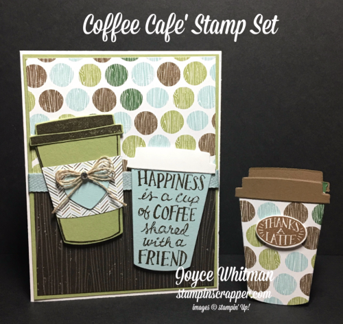 stampin up, Stampin' Up! Coffee Cafe stamp set #143677, Coffee Cafe Framelits #143745, designed and created by Stampin Scrapper, for more cards, gifts, ideas, scrapbooking and 3D projects go to stampinscrapper.com, Joyce Whitman