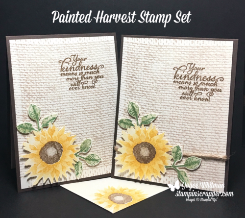 Stampin Up, Stampin' Up! Painted Harvest stamp set #144783, Burlap Background Stamp #143982, Jute Twine #144625, Wink of Stella #141897, designed by Stampin Scrapper, for more cards, gifts, ideas, scrapbooking and 3D projects, go to stampinscrapper.com, Joyce Whitman