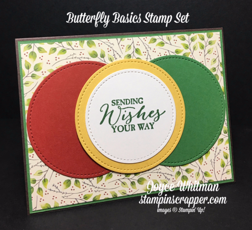 stampin up, Stampin' Up! Butterfly Basics Stamp Set #137154, Painted Autumn DSP #144613, Stitched Shapes Framelits #145372, designed by Stampin Scrapper, for more cards, gifts, ideas, scrapbooking and 3D projects, go to stampinscrapper.com, Joyce Whitman
