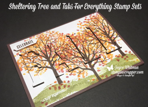 Stampin Up, Stampin' Up! Sheltering Tree #137163, Tabs for Everything #143907, Large Letters Framelits #141712, Classic Label Punch #141491, created and designed by Stampin Scrapper, for more cards, gifts, ideas, scrapbooking and 3D projects go to stampinscrapper.com, Joyce Whitman