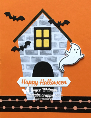 "stampin up, Stampin"" Up! Sweet Home Stamp Set #140936, Labels To Love Stamp Set #144967, Spooky Cat Stamp Set #144749, Home Sweet Home Thinlits #140279, created by Stampin Scrapper, for more cards, gifts, ideas, scrapbooking and 3D projects go to stampinscrapper.com, Joyce Whitman"