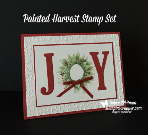 Stampin Up, Stampin' Up! Painted Harvest Stamp Set #144783, Large Letters Framelits #141712, Garden Trellis Embossing Folder #143741, created by Stampin Scrapper, for more cards, gifts, ideas, scrapbooking and 3D projects go to stampinscrapper.com, Joyce Whitman