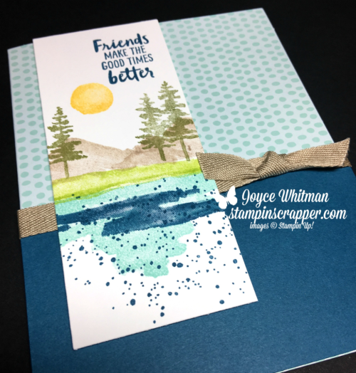 Stampin Up, Stampin' Up! Waterfront stamp set #146386, Tutti-Frutti Cards & Envelopes #147242 SaleABration, CASEing Tuesday #129, created by Stampin Scrapper, for more cards, gifts, ideas, scrapbooking and 3D projects go to stampinscrapper.com, Joyce Whitman
