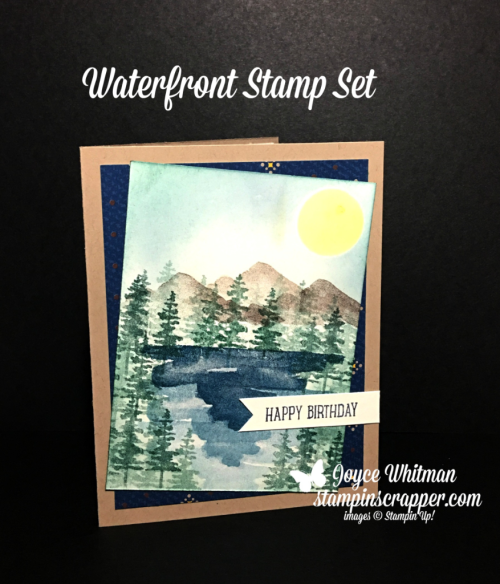 Stampin Up, Stampin' Up! Waterfront Stamp Set #146386, Occasions Catalog 2018, True Gentleman Designer Series Paper #145593, created by Stampin Scrapper, for more cards, gifts, ideas, scrapbooking and 3D projects go to stampinscrapper.com, Joyce Whitman