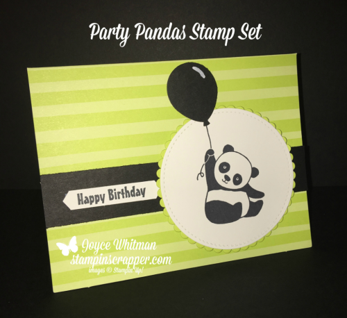 Stampin Up, Stampin' Up! Party Pandas stamp set #147221, Tutti-Frutti Cards & Envelopes #147242, Layering Circle Framelits #141705, Stitched Shapes Framelits #145372, Classic Label Punch #141491, Balloon Bouquet Punch #140609, created by Stampin Scrapper, for more cards, gifts, ideas, scrapbooking and 3D projects go to stampinscrapper.com, Joyce Whitman