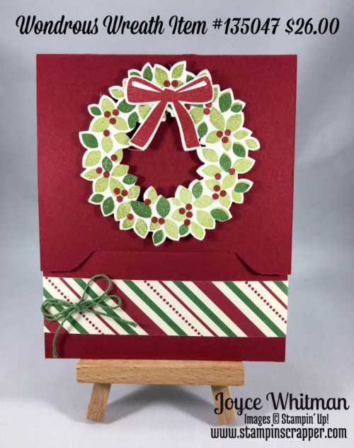 stampin up, Stampin' Up! Wondrous Wreath #135047, Embellished Ornaments #139759, Reason for the Season #139730, This Christmas Designer Series Paper #141628, Wonderful Wreath Framelits #135851, created by Stampin Scrapper, for more gifts, cards, scrapbooking and 3 D projects go to stampinscrapper.com