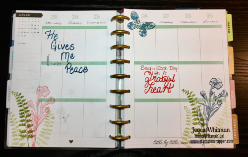 stampin up, Stampin' Up! Butterfly Basics #138816, Happy Planner, created by Stampin Scrapper, for more ideas, cards, gifts, scrapbooking and 3 D projects, go to stampinscrapper.com