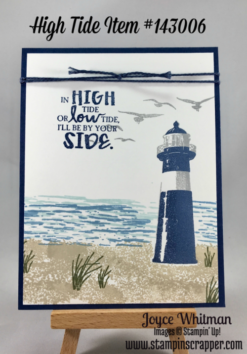 "stampin up, Stampin"" Up! High Tide #143006, Night of Navy Baker's Twine, 2017 Occasions catalog, created by Stampin Scrapper, for more cards, gifts, ideas, scrapbooking and 3D projects go to Stampinscrapper.com"