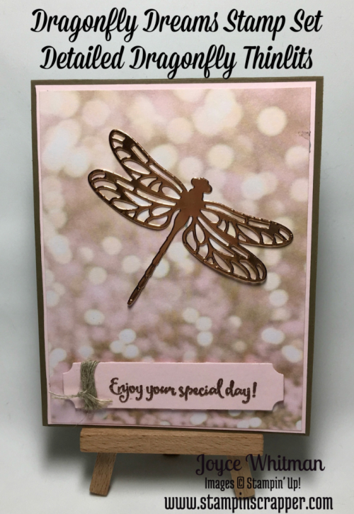 stampin up, Stampin Up! Dragonfly Dreams #142924, Detailed Dragonfly Thinlits #142749, Ballin in Love Designer series Paper #142788, created by Stampin Scrapper, for more cards, gifts, ideas, scrapbooking, 3D projects go to stampinscrapper.com