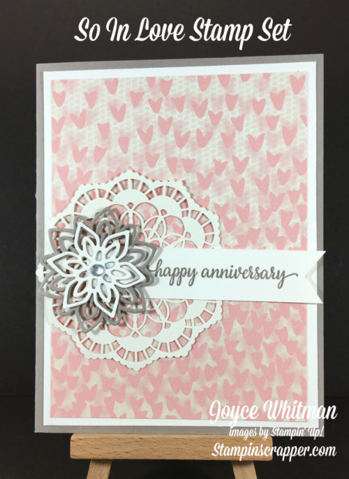 stampin up, Stampin Up! So In Love #143216, Falling In Love Designer Series Paper #142788, Flourish Thinlits  #141478, Lace Dollies #142793, created by Stampin Scrapper, for more cards, gifts, ideas, scrapbooking and 3D projects go to stampinscrapper.com