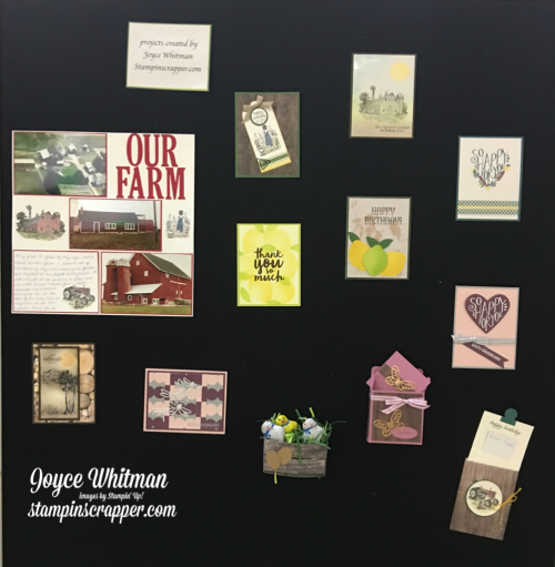 stampin up, Stampin Up! 2017OnStage, display board created by Stampin Scrapper, for more cards, gifts, ideas, scrapbooking, 3 D projects go to stampinscrapper.com, JoyceWhitman