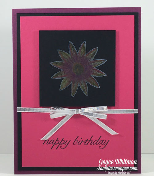 Stampin up, Stampin' Up! Grateful Bunch #140691, Birthday Blossoms #139471, Black Magic Technique, designed by Stampin Scrapper, for more cards, gifts, ideas, scrapbooking and 3D projects go to Stampinscrapper.com, Joyce Whitman
