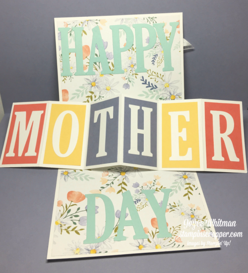 "stampin up, Stampin' Up! Daisy Punch #143713, 1/2"" Circle Punch #119869, Large Letters Framelits #141712, Organza Ribbon #114319, Delightful Daisy Designer Series Paper #144137, Wink of Stella #141897, created by Stampin Scrapper, for more cards, gifts, ideas, scrapbooking and 3D projects go to stampinscrapper.com, Joyce Whitman"