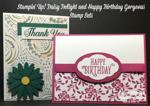 Stampin up, Stampin' Up Daisy Delight #143669, Happy Birthday Gorgeous #143662, Daisy Punch #143713, Pretty Label Punch #143715, Stitched Shaped Framelits #145372, Delightful Daisy DSP #144137, Fresh Florals DSP #144131, created by Stampin Scrapper, for more cards, gifts, ideas, scrapbooking and 3D projects go to Stampinscrapper.com, Joyce Whitman