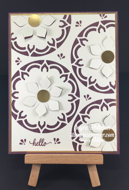 stampin up, Stampin' Up! Eastern Beauty stamp set #143675, Eastern Medallions Thinlits #143725, Eastern Palace Specialty DSP #144147, created by Stampin Scrapper, for more cards, gifts, ideas, scrapbooking and 3D projects go to stampinscrapper.com, Joyce Whitman