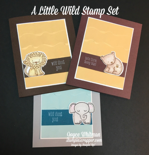stampin up, Stampin Up! A Little Wild stamp set #144344, Little Loves Framelits #143743, Ruffled 3D Dynamic Textured Impressions Embossing Folder #143699, created by Stampin Scrapper, for more cards, gifts, ideas, scrapbooking and 3D projects go to stampinscrapper.com, Joyce Whitman