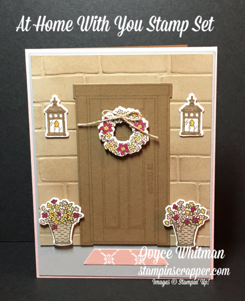 stampin up, Stampin' Up! At Home with You #143681, At Home Framelits #143272, Brick Wall Embossing Folder #138288,  designed and created by Stampin Scrapper, for more cards, gifts, ideas, scrapbooking and 3D projects go to stampinscrapper.com, Joyce Whitman