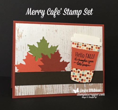 stampin up, Stampin' Up! Merry Cafe #144965, Coffee Cup Framelits #143745, Seasonal Layers Thinlits #143751, created by Stampin Scrapper, for more cards, gifts, ideas, scrapbooking and 3D projects go to stampinscrapper.com, Joyce Whitman