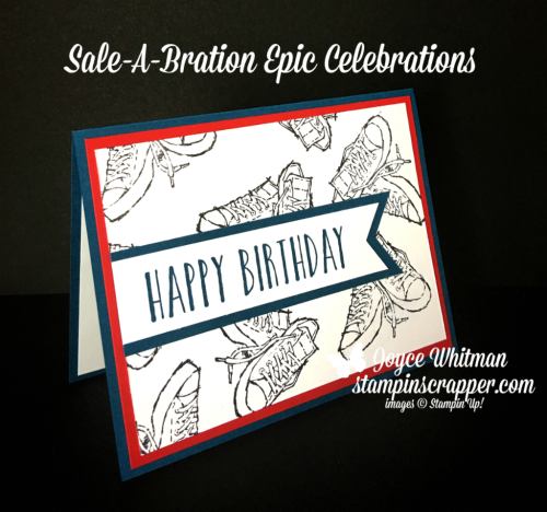 Stampin Up, Stampin' Up! Epic Celebrations stamp set ##147236, Perennial Birthday stamp set #145760, Banner Triple Punch #138292, created by Stampin Scrapper, for more cards, gifts, ideas, scrapbooking and 3D projects, go to stampinscrapper.com, Joyce Whitman