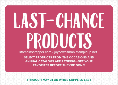 StampinUp2018LastChanceproductsStampinScrapperJoyceWhitman