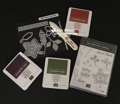 Stampin Up, Stampin' Up! Falling For Leaves stamp set #147680, Detailed Leaves Thinlits #147921, Bundle #149938, CASEing Tuesday #161, created by Stampin Scrapper, for more cards, gifts, ideas, scrapbooking and 3D projects go to stmapinscrapper.com, Joyce Whitman