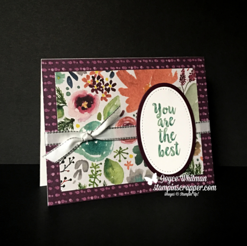 Stampin Up, Stampin' Up! A Big Thank You stamp set #147377, Frosted Floral designer series paper #147800, Layering Oval Framelits #141706, CASEing Tuesday, created by Stampin Scrapper, for more cards, gifts, ideas, scrapbooking and 3D projects go to stampinscrapper.com, Joyce Whitman