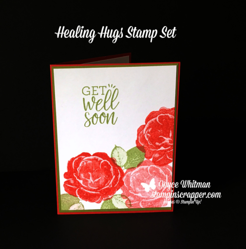 Stampin Up, Stampin' Up! Healing Hugs stamp set #146530, created by Stampin Scrapper, for more cards, gifts, ideas, scrapbooking and 3D projects, go to stampinscrapper.com, Joyce Whitman