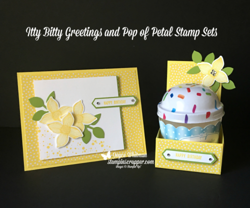 Stampin Up, Stampin' Up! Itty Bitty Greetings stamp set #146667, Pop of Petals stamp set #146649, Timeless Textures stamp set #140551, Four-Petal Flower Punch #147041, Classic Label Punch #14191, Leaf Punch #144667, CASEing Tuesday, created by Stampin Scrapper, for more cards, gifts, ideas, scrapbooking and 3D projects go to stampinscrapper.com, Joyce Whitman