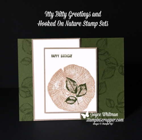 Stampin Up, Stampin' Up! Itty Bitty Greetings stamp set #146667, Rooted In Nature stamp set #146482, created by Stampin Scrapper, for more cards, gifts, ideas, scrapbooking and 3D projects, go to stampinscrapper.com, Joyce Whitman