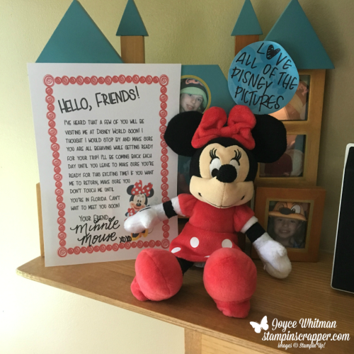 Countdown to Disney, created by Stampin Scrapper, for more cards, gifts, ideas, scrapbooking and 3D projects go to stampinscrapper.com, Joyce Whitman