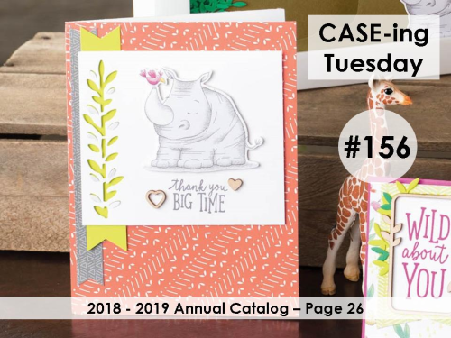 Stampin Up, Stampin' Up! Daisy Delight stamp set #143669, Daisy Punch #143713, Animal Expedition Designer Series Paper #146902, CASEing Tuesday #156, created by Stampin Scrapper, for more cards, gifts, ideas, scrapbooking and 3D projects go to stampinscrapper.com, Joyce Whitman