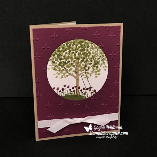 Stampin Up, Stampin' Up! Sheltering Tree stamp set #137163, Sparkle Embossing Folder #141468, created by Stampin Scrapper, for more cards, gives, ideas, scrapbooking and 3D projects, go to stampinscrapper.com, Joyce Whitman